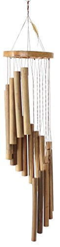 Windspiel Bambus spiralförmige Klangspiele aus feinem Bambus, Holzklangspiele