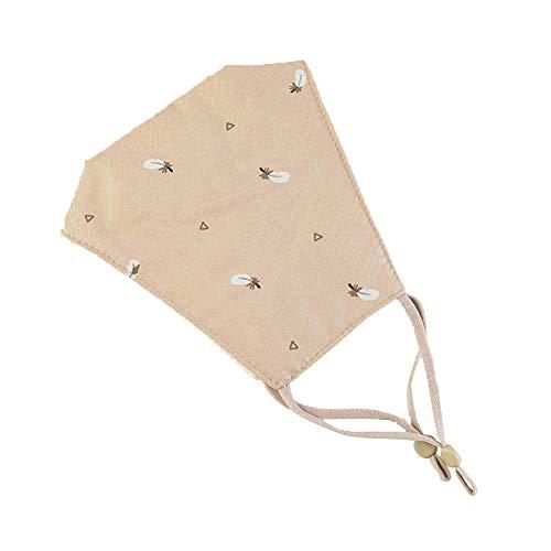 Qinlee. Waschbarer hängender Ohrschal aus einfarbiger Baumwolle für Erwachsene Atmungsaktiver Schal (Khaki)