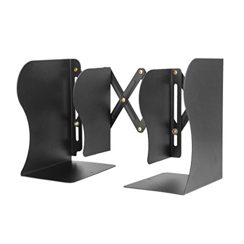 Z-SEAT Serre-Livres Extensible Heavy Duty Metal Book Racks Textbook Cookbook File Holder Desktop Organizer Stand for Shelves Desk