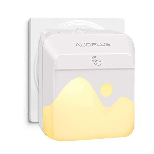 AUOPLUS Multi-Colores LED Luz Nocturna Infantil,Lámpara Quitamieda de pared para Niños con Sensor Crepuscular,Control Táctil,luz de Ambiente para Habitación Bebé,Dormitorio,Sala,Garaje,Baño,Pasillos