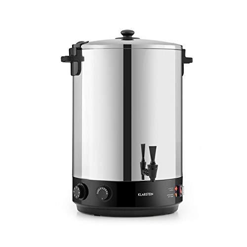 Klarstein KonfiStar 40 olla para confituras - caldera de cocción,Termo para bebidas, 40 litros, 30-110 °C, Programable 20-120 min, Conserva la temperatura, Sabor genuino, Acero inoxidable