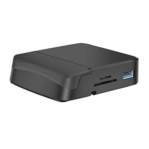 CGGA Multifuncional 8-IN-1 Tipo C HDMI USB SD/TF Tarjeta de Acoplamiento Soporte de teléfono móvil para teléfono móvil y Tableta
