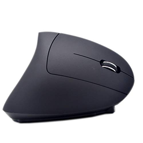 Morninganswer Drahtlose Maus Ergonomisches Design 2.4G Exquisite Bunte helle vertikale Gaming-Maus Geeignet für Gamer Schwarz