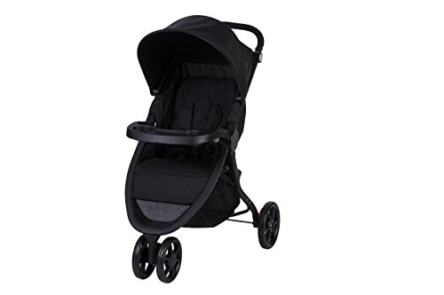 Safety 1st Passeggino Urban Trek Reclinabile, Richiudibile Compatto in Chiusura, 3 Ruote, 0 - 15 kg, Colore Full Black
