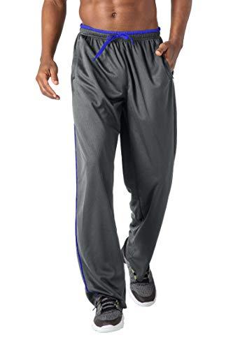 KEFITEVD Sweathose Herren Fitness Sport Hose Running Pants Leicht Jogginghose Herren Lang Frühling Gym Sporthose Dehnbund Weich Homewear Männer Grau-Blau XL