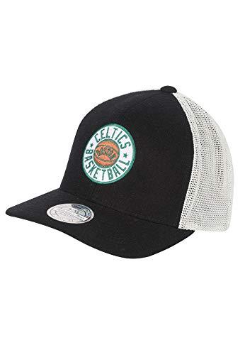 Mitchell & Ness Trucker Cap INTL240 Boston Celtics Schwarz Weiß, Size:ONE Size