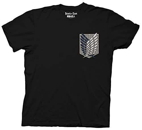 Ripple Junction Attack on Titan Survey Corps Adult Unisex T-Shirt, Black