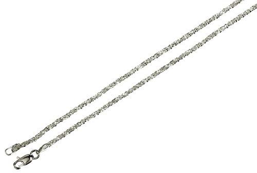 Criss-Cross-Kette aus 925 Sterling Silber diamantierte Qualitätskette aus Italien 1,4 mm von SILBERMOOS, Länge:60 cm