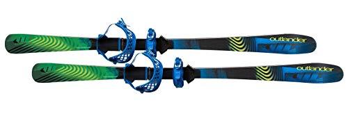 Whitewoods Outlander Cross Country Skis & Bindings Set - Snowshoe Grip, Nordic Glide (130cm (90 lbs. - 160 lbs.))
