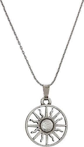 Alex and Ani Women's Rising Sun 32 inch Necklace, Rafaelian Silver