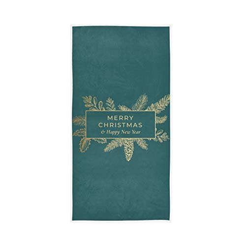 RURUTONG Paquete de 1 toalla de mano de Navidad suave de secado rápido toalla de baño para cocina, natación, spa, gimnasio, decoración 30 x 15 pulgadas 2010258