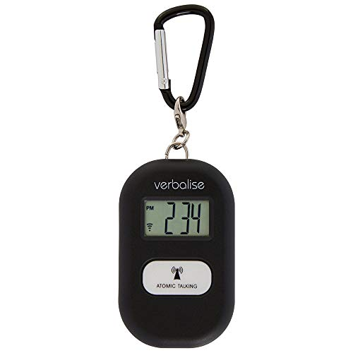 Verbalise Talking 5 Alarm Medication Reminder Keychain, Black