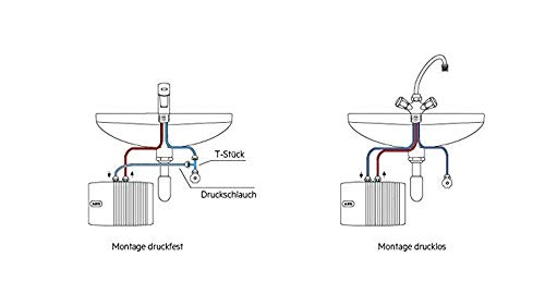 AEG hydraulischer Klein-Durchlauferhitzer MTD 440, 4,4 kW, drucklos und druckfest für Handwaschbecken, 222121 - 5