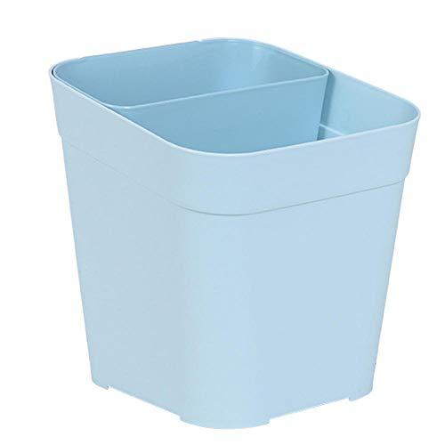 Rails 10L Contenedor de Basura Reciclaje de El Plastico Basuras de Cocina 3L+7L Cubos Reciclaje Cocina Tapa con Bisagras