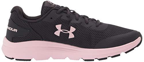 Under Armour Unisex Kid's Grade School Surge 2 Road Running Shoe, Blackout Purple/Beta Tint/Beta Tint (502), 6