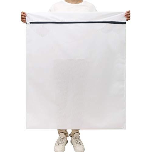 [Amazonブランド] Umi(ウミ)洗濯ネット 特大 90×110CMランド リーネットウォッシュバッグ 洗濯袋 角型 寝具/カーテン/毛布/ジャケット/複数の服など 適用 耐久性 型崩れ防止 絡み防止 傷付き防止 旅行 収納ネット 家庭用