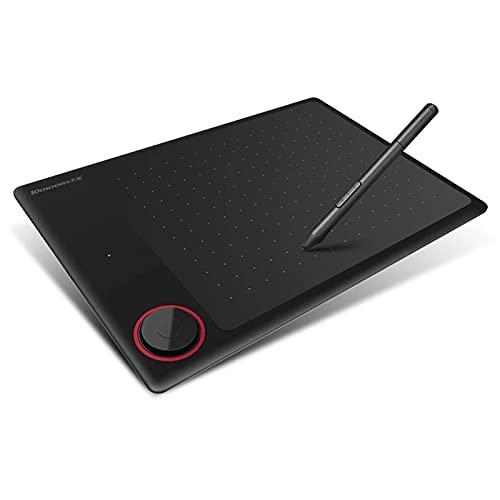 10moons G30 - Tableta de dibujo con gráficos ultraliviana (7,2 x 5,3 pulgadas, incluye lápiz capacitivo sin batería, 8 puntas, 8192, niveles de presión, 12 teclas Express, compatible con PC, Windows Android
