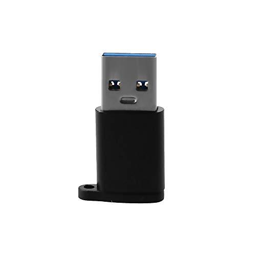 skrskr Adaptador USB3.0 USB3.0 Macho a Tipo C Hembra Adaptador OTG Convertidor Plug and Play Conector OTG Negro