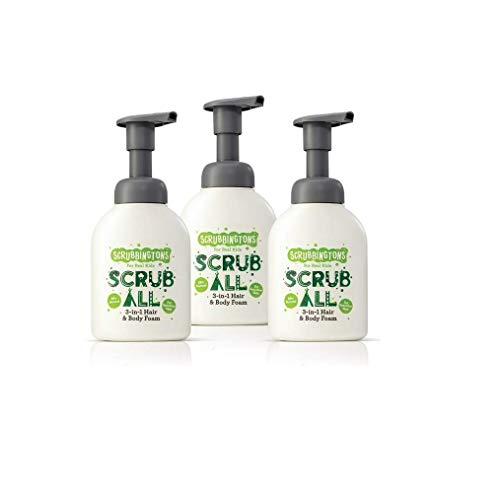 Scrubbingtons Trio de Scrub Up Mousse Nettoyante 3 en 1 Cheveux et Corps, 1 Paquet (3 x 200 ml)