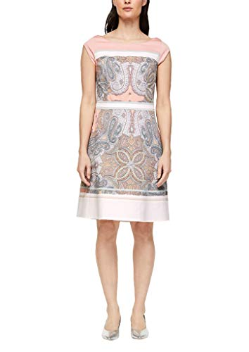 s.Oliver BLACK LABEL Damen 150.10.004.20.200.2038731 Kleid, Dusty Rose Paisley Print, 38