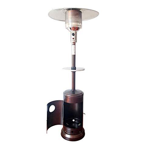 SONGYU Calentador de Patio de 40, 000 BTU con Mesa para Bebidas y Ruedas (propano)