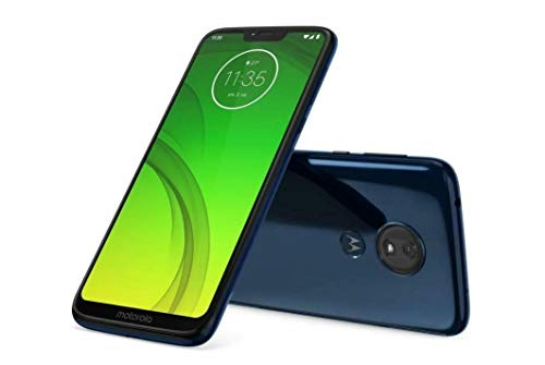 Motorola Moto G7 Power (64GB + 64GB MicroSD) Dual SIM 6.2' (GSM Only) Factory Unlocked Smartphone - US & Global 4G LTE International Model XT1955-2 (Marine Blue, SD Bundle)