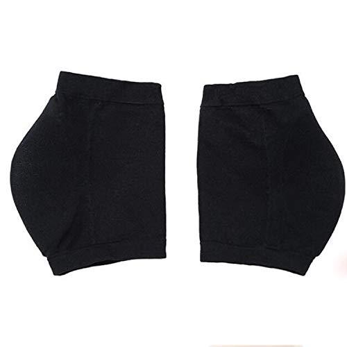 HUANGMENG Mode Hiver antifissurant Chaussettes à Talon hydratantes Silicone, Une Paire, Taille: Code S (34-39) (Noir) (Color : Black)