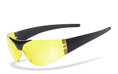 Helly® - No.1 Bikereyes® | H-FLEX®- unzerbrechlich, beschlagfrei, nachtsicht HLT® Kunststoff-Sicherheitsglas nach DIN EN 166 | Bikerbrille | Brillengestell: schwarz matt, Brille: moab 4