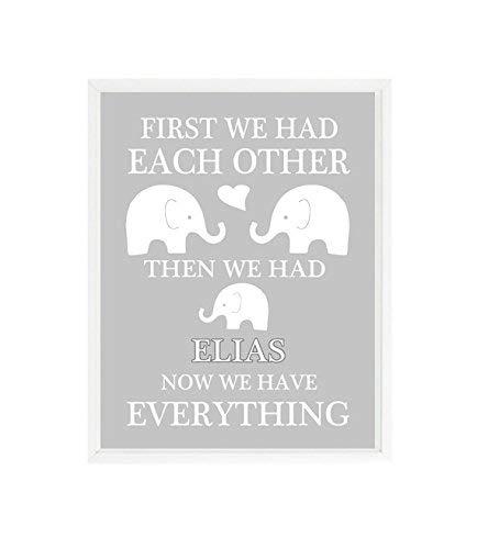 specialty shop First We Had Fashionable Each Other Elephant Baby Wall Boy Nursery Art