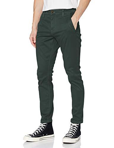 G-STAR RAW Skinny Chino Pantalon décontracté, Jungle GD C106-B783, 34W/ L32 Homme