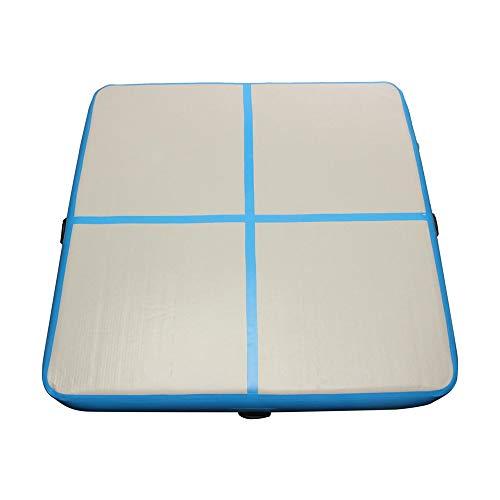 HO-TBO gymnastiekmat, 78,74 x 78,74 x 5,9 inch, opblaasbare gymnastiekmat, oefening, airtrack, blauw, multifunctionele pad