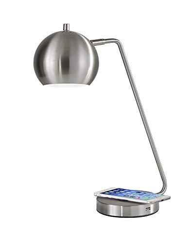 Adesso 5131-22 Emerson Desk Lamp WirelessCharging 7W LED 5W QIUSB Port Indoor Lighting Lamps