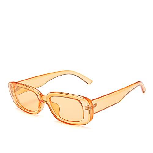 Gafas de sol cuadradas de lujo marca de viaje pequeño rectángulo gafas de sol hombres mujeres vintage retro mujer, C8,