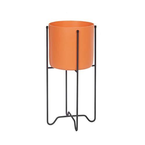 GF Fer Art Stand De Fleurs De Sol De Grande Capacité Pot Rack Balcon Intérieur Et Extérieur Salon Multifonction Vert Home (Couleur : Orange)