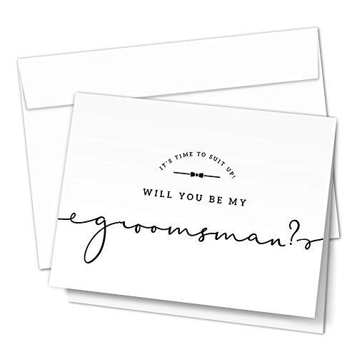 Groomsman Proposal Cards. 8 Will You Be My Groomsman and 2 Best Man Cards with Envelopes. Groomsmen Cards, Perfect for Wedding Party
