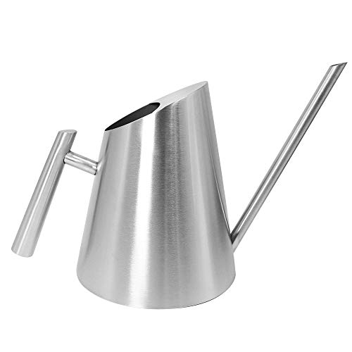 Cesun Metal Watering Can Solid Stainless Steel Pot with Long Spout Small Size for Bonsai Indoors and Outdoors (The Original)