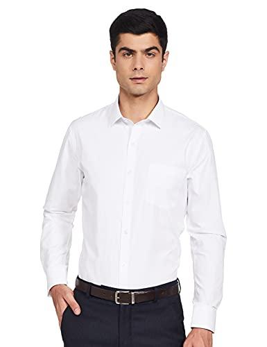 Easybuy Men's Slim Shirt (SU21RJ31MT_White 39)