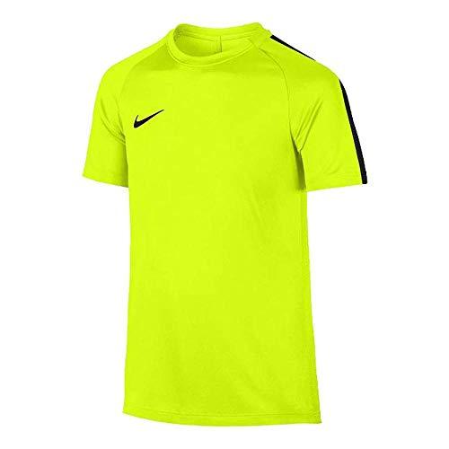 Nike et NK Dry acdmy SS T-Shirt Unisexe Enfant XL Multicolore (Volt/Noir)