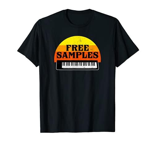 Divertido Muestras Gratis Teclado MIDI Music Recording Studio Regalo Camiseta