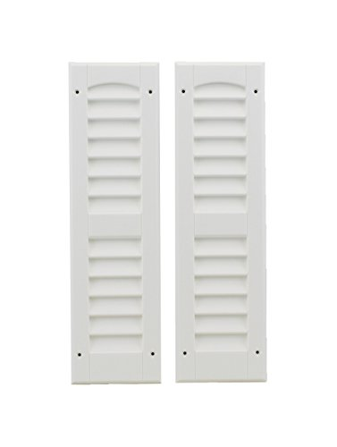 Louvered Shed Shutter or Playhouse Shutter White 6