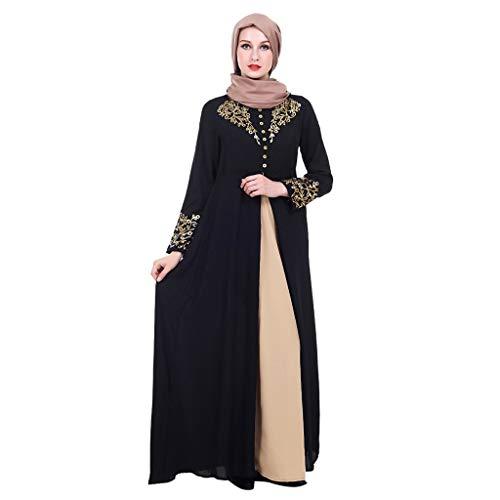 Miss Fortan Donna Abito Musulmano Medio Oriente Stampa Culto Manica Lunga Vestiti Abaya Kaftan Abiti Musulmane Abbigliamento Islamico Arabo Vestito Cerimonia M-2Xl