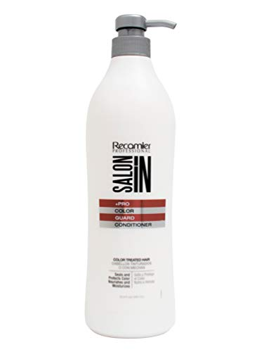 RECAMIER 34554 Professional Salon In Repairing Color Assure Enhancer Conditioner | Split End Mender Glossing Dyed Hair Treatment | Tratamiento Acondicionador para el Cabello Seco y Maltratado