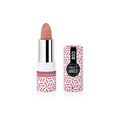 CHARLOTTE MAKE UP - Les Lèvres - Rouge à Lèvres BIO - Bois de Rose Brillant - Parées pour Séduire