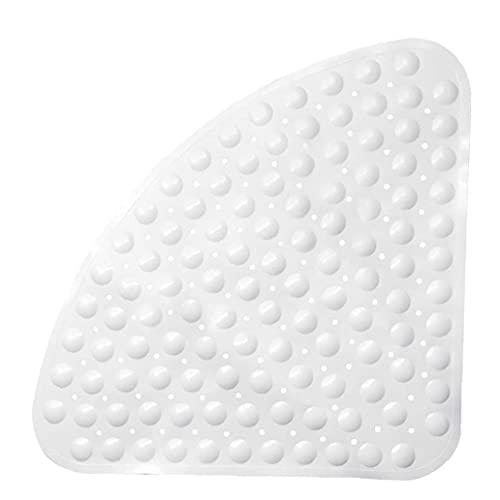 sevenjuly Alfombra de baño Antideslizante Ducha Alfombra Anti-bacteriana Baño Amortiguador con ventosas Colchonetas para bañera Blanca