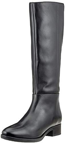 Geox Damen D FELICITY D Knee High Boot, Black, 41 EU