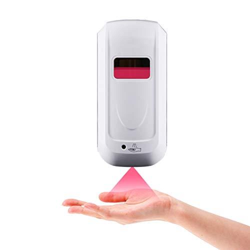 Dispensador de líquidos 1000ml de pared del sensor automático dispensador de jabón for el hospital, aeropuerto, cocina, baño, Necesita 4 pilas AAA (baterías no incluidas) Botellas Divididas de Prensa