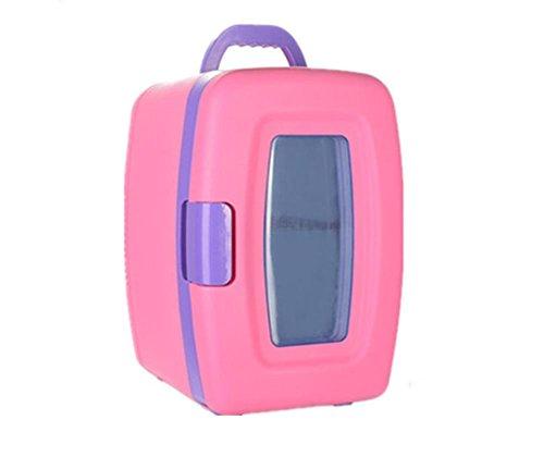 10L Mini Frigo 12V frigorifero auto del dispositivo di raffreddamento di sicurezza a doppio uso caldo / freddo Home / auto portatile Ghiacciaia Freddo e caldo dell'incubatrice piccolo freezer (colore rosa) , blue sky white