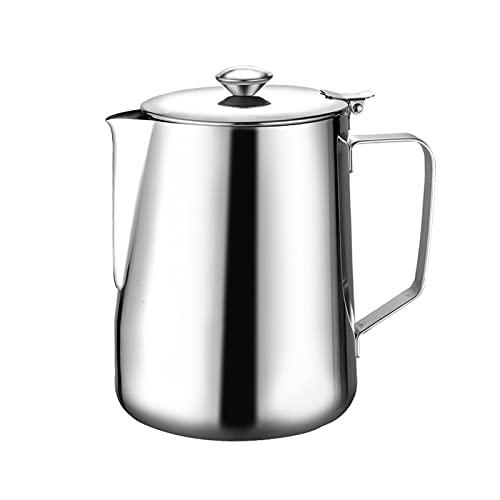 ZHANGZHI 1,5 litra ze stali nierdzewnej pull espresso frother frother pianka girlanda kubek dzbanek mleka ekspres do kawy Duża pojemność (Colore : Argento)