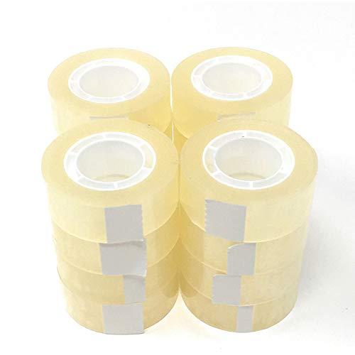 [Pack 16] Rollos de Celo Transparente. Pack de Cintas Adhesivas transparentes. Varios tamaños (16 unidades, 19 mm x 33 mts)