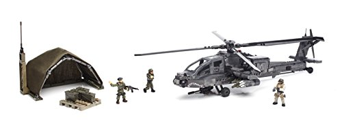 Mega Bloks - Set de Juego, Ataque de helicóptero blindado (Mattel DPB60)